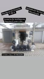 Conserta Ventiladores , Maquina De Lavar e Etc...