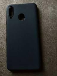 Capa flexível para A20s preto novinha nunca foi usada
