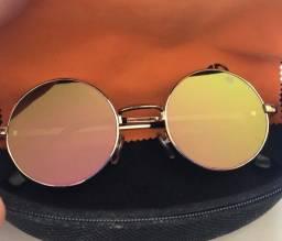 Óculos de sol redondos vintage estilo John Lennon