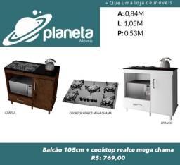 balcão e cooktop