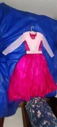 Título do anúncio: Vestido princesa rosa