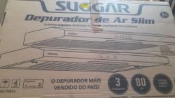 Depurador Sugar slim preto 80cm NOVO