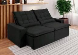 Sofá retrátil e reclinável maric 2m largura