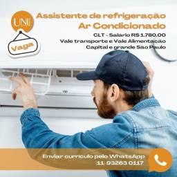Título do anúncio: Assistente de Técnico de Refrigeração Ar Condicionado