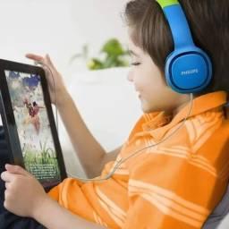 Headphone Kids Shk2000bl/00 Limitador de Volume para Criança - Azul e verde
