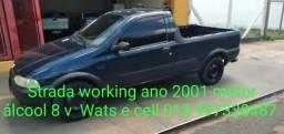 fiat strada ano 2001  alccol  motor  8 v