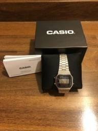 Relógio Casio prata/ aço