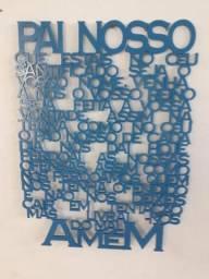 Oração pai nosso em MDF , tamanho 60 x 45 cm