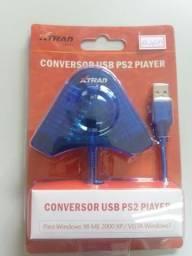 Adaptador usb controle ps1 e ps2 para pc