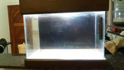 Aquario com tampa e base