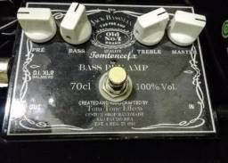 Pedal Bass Pre Amp Tom Tone Efx Bass Jackman 70cl