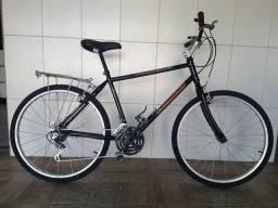 Bicicleta aro 26 reformada bagageiro
