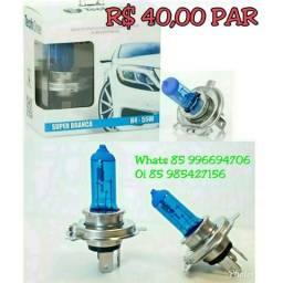 Lâmpada Super Branca H4 H7 H1 H3 comprar usado  Maracanaú