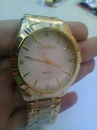 75f8906cc32 Relógio Chenxi Feminino Ouro Quartzo D Luxo