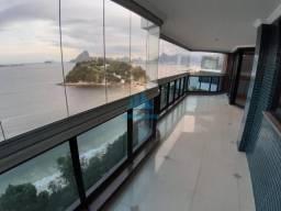 Magnífico apartamento 4 suítes e varandão vista frontal mar