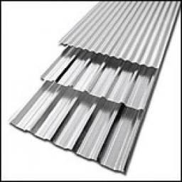 Título do anúncio: Telhas Galvanizadas -Peças de 5 e 6 metros - 50 unidades juntas ou separadas