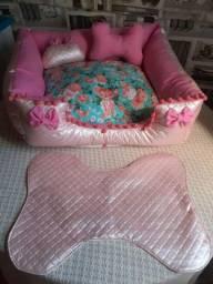 Kit pet (Luxo) o kit tem quatro pecas, 1 tapete 2 pelúcias 1 cama