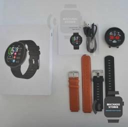SMARTWATCH DT18 com pulseira adicional de couro