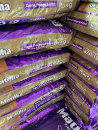 Ração premium matilha 15kg Adulto e Filhote - Retirada em Itaboraí