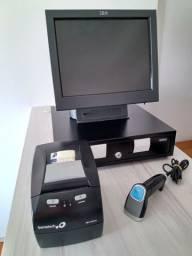 Kit para comércio -  PDV ibm touch screen 2 telas + impressora bematech + leitor + gaveta