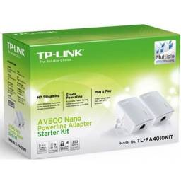 Power Line TP Link AV500 Kit Starter + 1 Adaptador Avulso