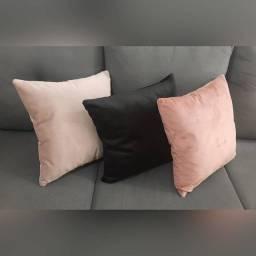 Almofadas em Veludo - Nude / Preta / Rosê
