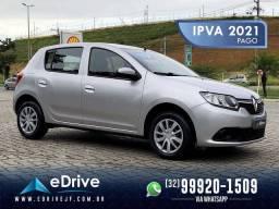 Renault Sandero Expression 1.6 Flex - Carro Top de Linha - Novo - Carro do Ano - 2020