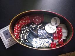 Jogo de Poker com mais de 100 peças