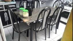 Super barata  mesa com 6 cadeira  do 450