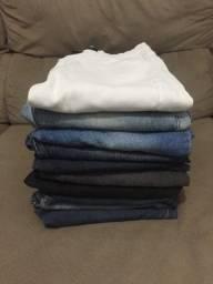 Lote calças jeans