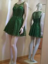 Título do anúncio: vestido festa curto verde 40