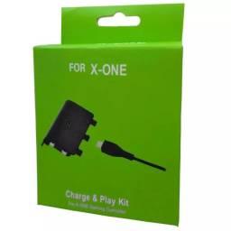 Kit play e chargement bateria recarregável com cabo para controle de Xbox 360