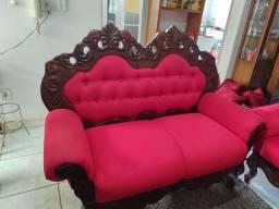 Jogo de sofá de madeira