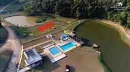 Título do anúncio: Terreno com lago em frente 300m2 projeto grátis