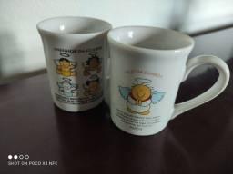 Duas xícaras novas, infantis de anjo da guarda