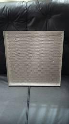 Assadeira 35x35cm alumínio perfurado Prática