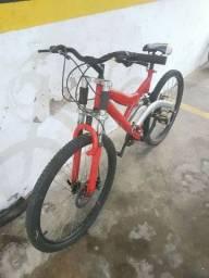 Bike caloi mtb aro 26 full suspension