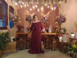 Título do anúncio: Vestido Fluido Marsala