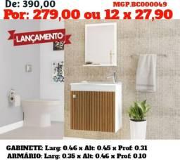 Gabinete e Espelho para banheiro - armário para banheiro - direto da Fabrica