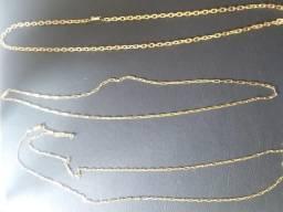 Correntes Cartier fecho gaveta banhada 15 milésimos