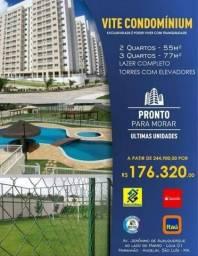 16 - Apartamento de 2 e 3 quartos No Angelim pronto para morar