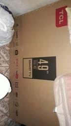 Smart tv Toshiba tcl 49 pol na caixa