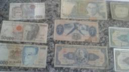 Notas e moedas antigas! verdadeiras relíquias. .