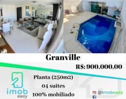 Cobertura Granville 4 suítes (100% mobiliado) com piscina