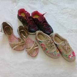 Calçados lindos para meninas