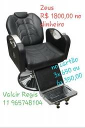 Urgente promoção 350,00 cadeira de Barbeiro Zeus