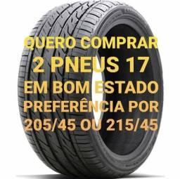 Quero comprar 2 pneus 17 em bom estado