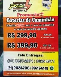 Bateria caminhao 150ah Preço recorde!!!! 3397-2074