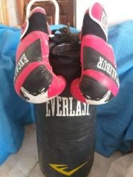 Vem saco de box bem conservado + as luvas