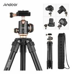 Andoer Tripé Câmera Filmadora Profissional Canon Nikon Sony
